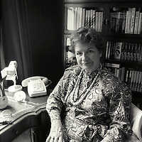P.D.James in her office, London<br /> Photographed in 1988<br /> <br /> Picture by Flo Smith<br /> <br /> <br /> WORLD RIGHTS