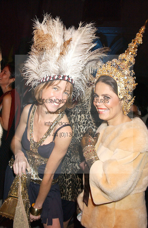Left to right,        and Fashion designer DANIELLA HELAYEL at Andy & Patti Wong's annual Chinese New Year party, this year celebrating the year of the dog held at The Royal Courts of Justice, The Strand, London WC2 on 28th January 2006.<br /><br />NON EXCLUSIVE - WORLD RIGHTS