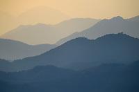 Sunset over Yangxian Nature Reserve, Shaanxi, China