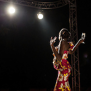Marcia creation derss during the Kinshasa Fashion week. CAPTA/FEDERICO SCOPPA