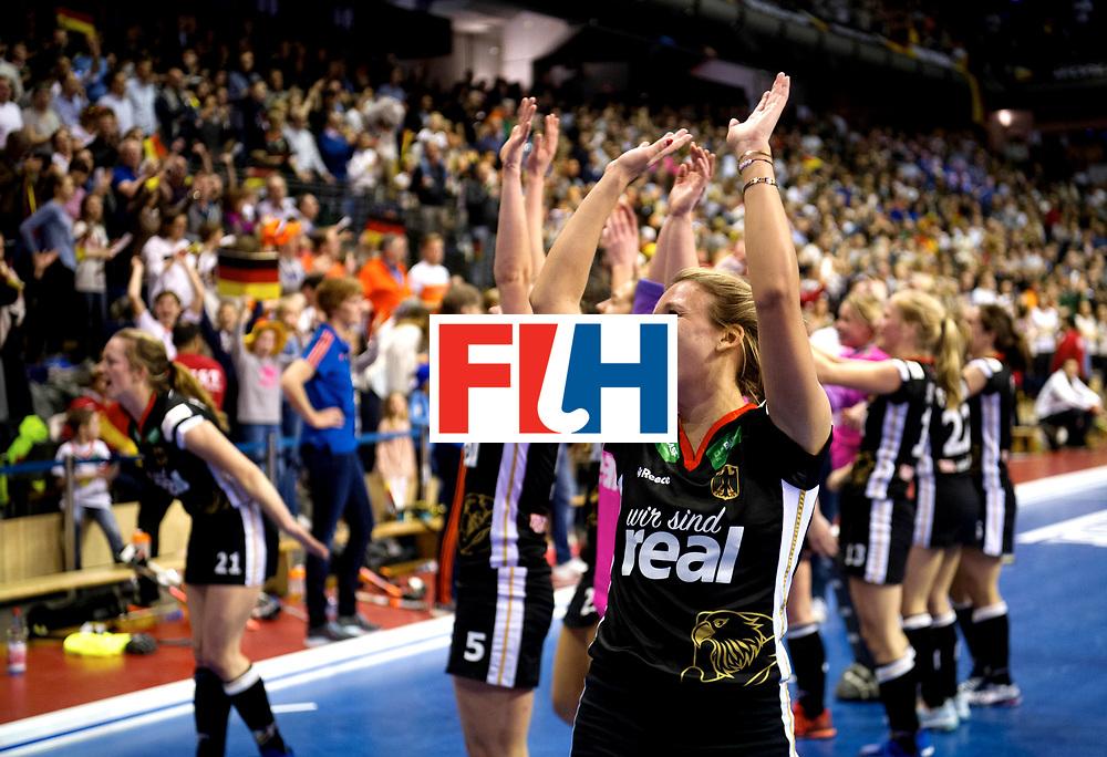 BERLIN - Indoor Hockey World Cup<br /> Final: Netherlands - Germany<br /> foto: Anne Schroeder.<br /> WORLDSPORTPICS COPYRIGHT FRANK UIJLENBROEK