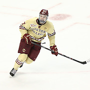 Destry Straight #17 of the Boston College Eagles on the ice during The Beanpot Championship Game at TD Garden on February 10, 2014 in Boston, Massachusetts. (Photo by Elan Kawesch)