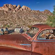 Rusted Chevrolet Fleetline - Eldorado Canyon - Nelson NV - HDR