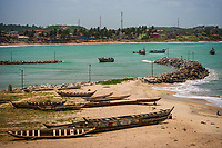 Boat Entering Elmina Canal