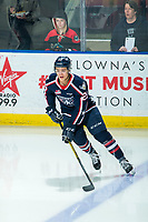 KELOWNA, BC - FEBRUARY 12: Tyson Greenway #23 of the Tri-City Americans warms up with the puck on the ice against the Kelowna Rockets at Prospera Place on February 8, 2020 in Kelowna, Canada. (Photo by Marissa Baecker/Shoot the Breeze)