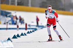 OLSRUD Hakon NOR LW8 competing in the ParaSkiDeFond, Para Nordic Skiing, 20km at  the PyeongChang2018 Winter Paralympic Games, South Korea.