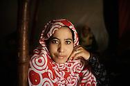 The Saharawi refugee camp  ...Sahrawi woman ..January 2008