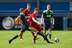 NUNEATON, ENGLAND - Sunday, July 30, 2017: Liverpool's captain Matthew Virtue and PSV Eindhoven's Philippe Rommens during a pre-season friendly between Liverpool and PSV Eindhoven at the Liberty Way Stadium. (Pic by Paul Greenwood/Propaganda)