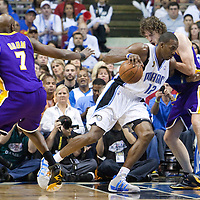 BASKET BALL - FINALS NBA 2008/2009 - LOS ANGELES LAKERS V ORLANDO MAGIC - GAME 5 -  ORLANDO (USA) - 14/06/2009 - .DWIGHT HOWARD (ORLANDO MAGIC), PAU GASOL (LOS ANGELES LAKERS), LAMAR ODOM (LOS ANGELES LAKERS)