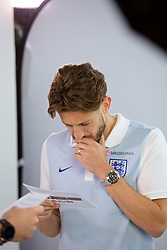 LIVERPOOL, ENGLAND - Wednesday, May 17, 2017: Liverpool and England's Adam Lallana during a photoshoot for Vauxhall at the Devonshire House Hotel. (Pic by David Rawcliffe/Propaganda)