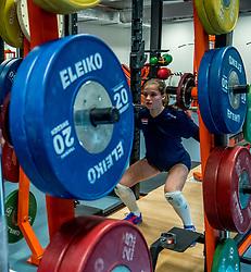 15-03-2017 NED:  Training jeugd Oranje, Arnhem<br /> Jeugd Oranje klaar voor het EK in eigen land maar eerst nog een pittige training / Rianne Vos #12 of Netherlands