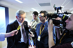 Jean-Claude Juncker, Luxembourg's prime minister, speak during the press conference following the European Union Summit at the EU headquarters in Brussels, Belgium, on Thursday, Nov. 19, 2009. European leaders set divisions aside today as they chose their first-ever European Union president to represent the 27-nation bloc on the world stage..(Photo © Jock Fistick)