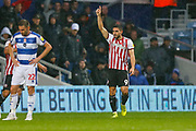 GOAL Brentford's Neal Maupay CELEBRATES during the EFL Sky Bet Championship match between Queens Park Rangers and Brentford at the Loftus Road Stadium, London, England on 10 November 2018.
