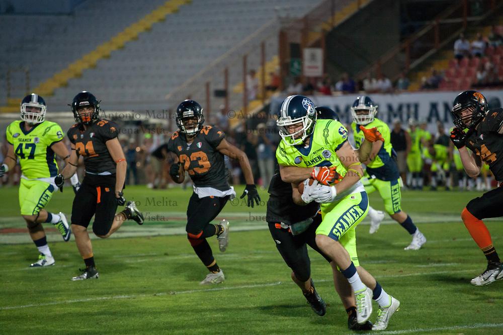 Seaman vincono la finale-derby contro i campioni in carica Rhinos e si aggiudicano l'Italian Bowl 2017.