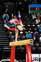 Dina Nygaard - Poutre - 15.04.2015 - Qualifications - Championnats d'Europe Gymnastique artistique - Montpellier<br />