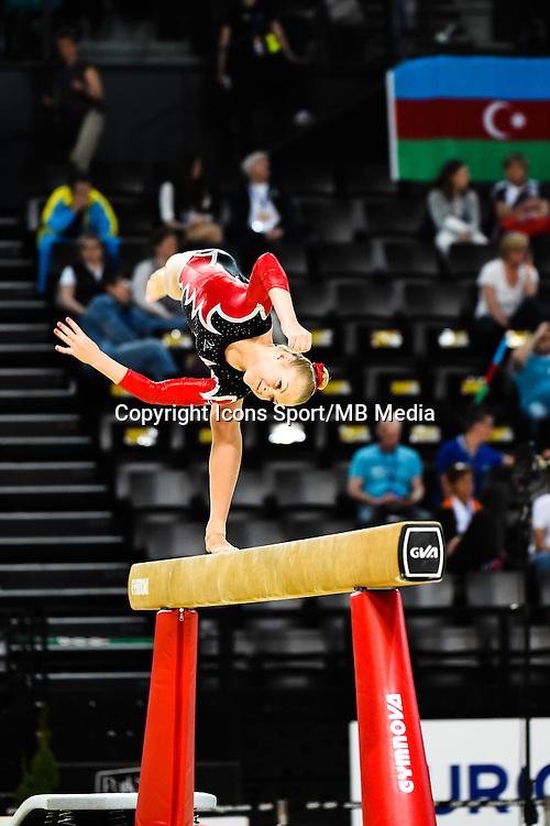 Dina Nygaard - Poutre - 15.04.2015 - Qualifications - Championnats d'Europe Gymnastique artistique - Montpellier<br />Photo : Dimou / Icon Sport *** Local Caption ***