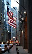 Street of Manhattan before Christmas.