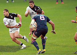 Luke McAlister attacks for Toulouse. Stade Toulousain v Stade Francais, 9eme Journee, Top 14, Rugby, Stade Ernest Wallon, Toulouse, France, 29th October 2011.