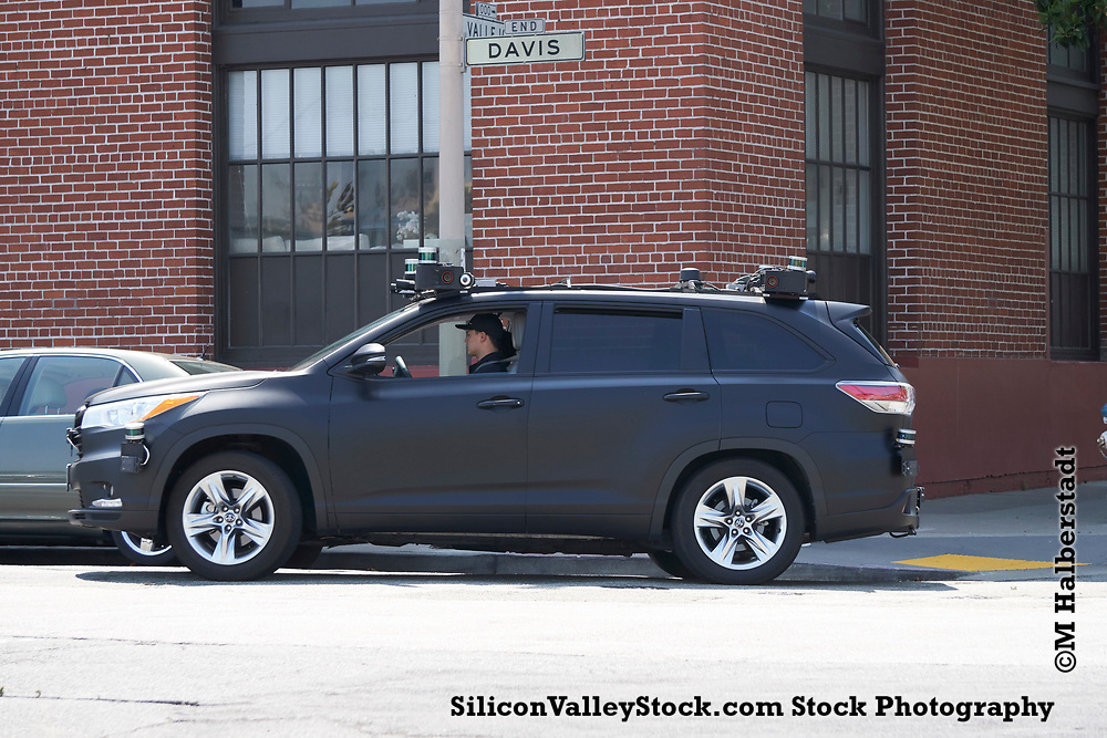 Zoox Self Driving Car testing on the Streets of San Francisco (stock photo copyright M Halberstadt)
