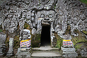 Carved from a hillsside, Elephant Cave at Goa Gajah Temple used to serve as a Budhist meditation place. It symbolizes the harmony between Hindus and Buddhists and it is one of the most significant archeological and holy sites in Bali.