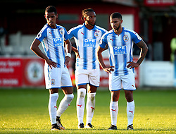 Tom Ince, Kasey Palmer and Nahki Wells of Huddersfield Town - Mandatory by-line: Robbie Stephenson/JMP - 12/07/2017 - FOOTBALL - Wham Stadium - Accrington, England - Accrington Stanley v Huddersfield Town - Pre-season friendly