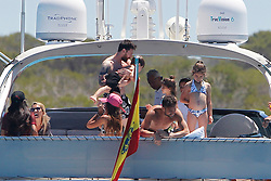 Leo Messi and Cesc Fabregas enjoy together with their families a day of boat in Formentera (Balearic Islands)<br /> 