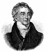 Thomas Young (1773-1829) English physicist and Egyptologist. Undulatory (wave) theory of light. Deciphering of Rosetta Stone. Engraving