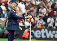 Football - 2019 / 2020 Premier League - West Ham United vs. Manchester City<br /> <br /> Manuel Pellegrini, manager of West Ham United, tries to encourage his team on at the London Stadium<br /> <br /> COLORSPORT/DANIEL BEARHAM