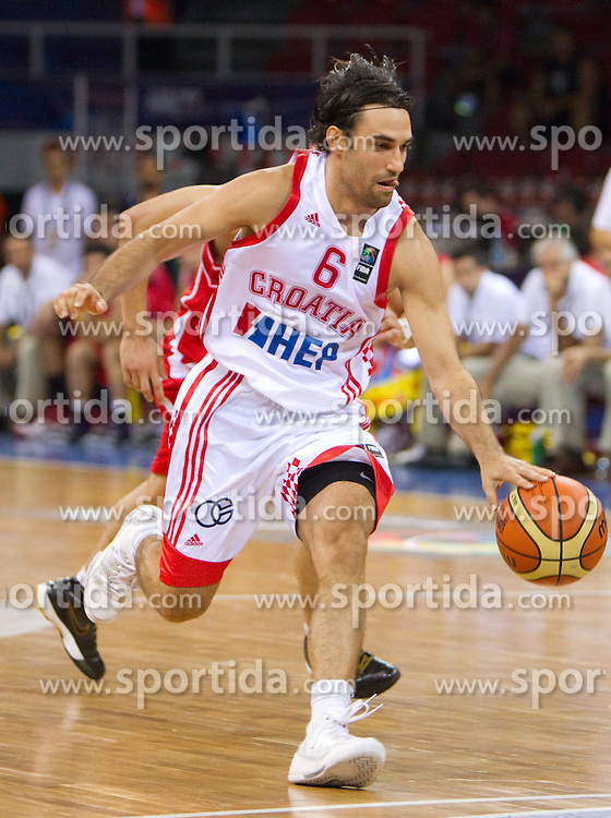 Marko Popovic of Croatia during the Preliminary Round - Group B basketball match between National teams of Croatia and Iran at 2010 FIBA World Championships on August 29, 2010 at Abdi Ipekci Arena in Istanbul, Turkey.  (Photo by Vid Ponikvar / Sportida)