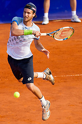 Joao Sousa (POR) during a tennis match against the Roberto Bautista-Agut (ESP) in semi-final round of singles at 26. Konzum Croatia Open Umag 2015, on July 25, 2015, in Umag, Croatia. Photo by Urban Urbanc / Sportida