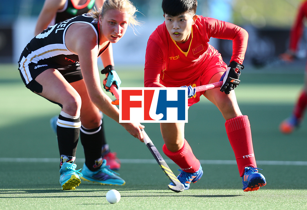 New Zealand, Auckland - 19/11/17  <br /> Sentinel Homes Women&rsquo;s Hockey World League Final<br /> Harbour Hockey Stadium<br /> Copyrigth: Worldsportpics, Rodrigo Jaramillo<br /> Match ID: 10297 - GER vs CHI<br /> Photo: (18) LI Na against (10) WENZEL Benedetta