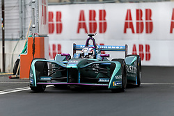April 28, 2018 - Paris, Ile-de-France, France - Britainl's Tom Blomqvist of the Formula E team Andretti competes during the practice session of the French stage of the Formula E championship around The Invalides Monument close to The Eiffel Tower in Paris on April 28, 2018. (Credit Image: © Michel Stoupak/NurPhoto via ZUMA Press)