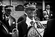 "Lionel Batiste of the Treme Brass Band, known as Uncle Lionel, on the set of HBO's ""TREME"" (The Pilot) on 31 March 2009 in New Orleans, Louisiana. USA."