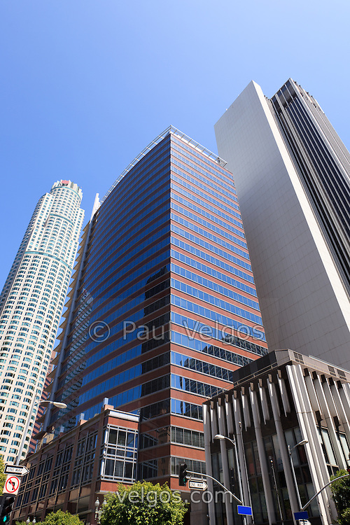 Photo of Los Angeles downtown skyscraper office buildings in Southern California in the United States.
