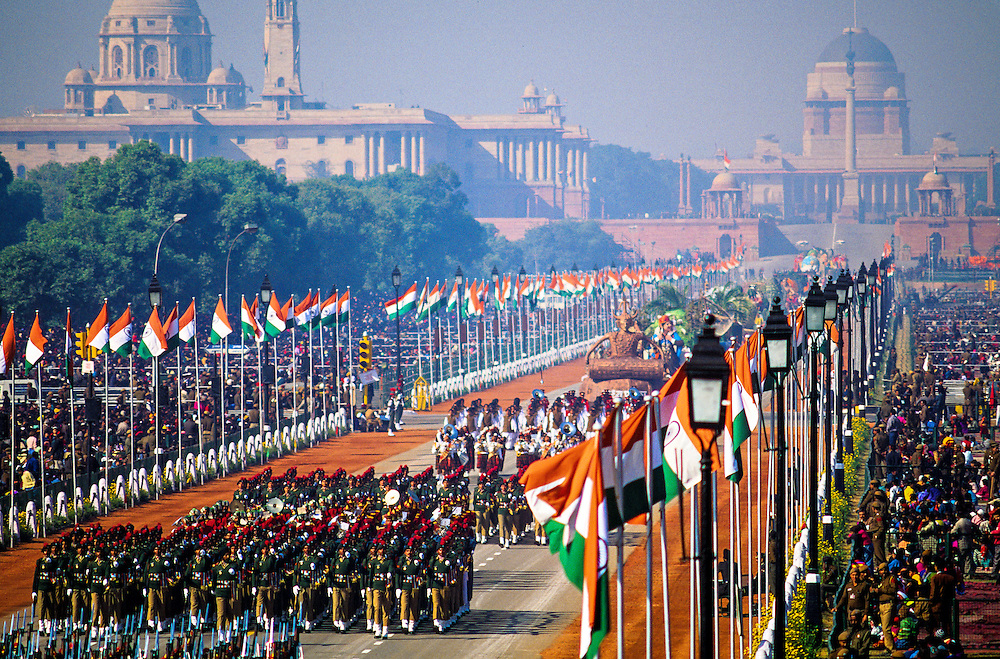 National Cadet Corps marching contingents, Republic Day Parade, Rajpath, New Delhi, India