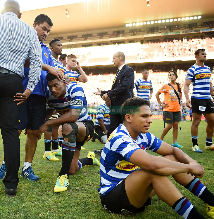 Cape Town-181027 Disappointed Western Province players after losing 17-12 in the 2018 Currie Cup against Cell C Sharks at the Newlands Stadium .Photographer:Phando Jikelo/African News Agency(ANA)