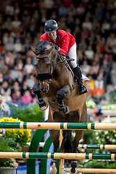 MADDEN Elizabeth (USA), Breitling LS <br /> Göteborg - Gothenburg Horse Show 2019 <br /> Longines FEI World Cup™ Jumping Final III round B<br /> Int. jumping competition over two rounds not against the clock with jump-off in case of point egality (1.50 - 1.60 m)<br /> Longines FEI Jumping World Cup™ Final and FEI Dressage World Cup™ Final<br /> 07. April 2019<br /> © www.sportfotos-lafrentz.de/Stefan Lafrentz