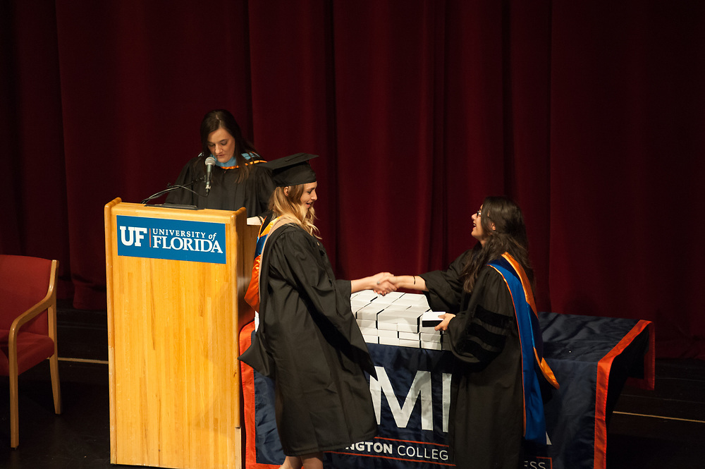 The University of Florida MBA of the Warrington College of Business Administration Executive and Professionals Program spring graduation at the Center for Performing Arts on UF's campus in Gainesville, Florida.