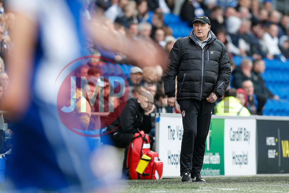 Cardiff City Manager Russell Slade looks on - Photo mandatory by-line: Rogan Thomson/JMP - 07966 386802 - 28/02/2015 - SPORT - FOOTBALL - Cardiff, Wales - Cardiff City Stadium - Cardiff City v Wolverhampton Wanderers - Sky Bet Championship.