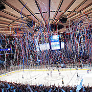 May 12, 2012:  The New York Rangers defeat the Washington Capitals 2-1 to advance to the Eastern Conference Finals at  Madison Square Garden in Manhattan, New York . (Credit Image: © Kostas Lymperopoulos/Cal Sport Media)