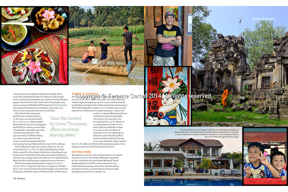 BBC Delicious Magazine (Australia). Global Plates feature on Battambang, Cambodia.