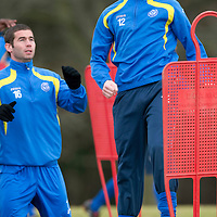 St Johnstone Training....<br /> Steven Anderson pictured in training ahead of tomorrows game against Hibs<br /> see story by Gordon Bannerman Tel: 07729 865788<br /> Picture by Graeme Hart.<br /> Copyright Perthshire Picture Agency<br /> Tel: 01738 623350  Mobile: 07990 594431