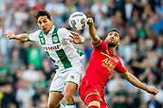 GRONINGEN, 17-05-2017, FC Groningen - AZ,  Noordlease Stadion, FC Groningen speler Tom Hiariej, AZ speler Alireza Jahanbakhsh