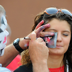May 30, 2012: Fans have their faces painted during festivities prior to game 1 of the NHL Stanley Cup Final between the New Jersey Devils and the Los Angeles Kings at the Prudential Center in Newark, N.J.