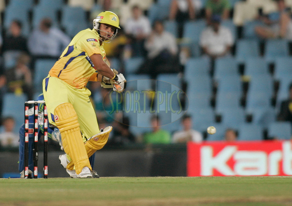 Superkings player Suresh Raina during match 9 of the Airtel CLT20 held between the Chennai Super Kings v Wayamba Elevens at Supersport Park in Centurion on the 15 September 2010..Photo by: Abbey Sabetha/SPORTZPICS/CLT20