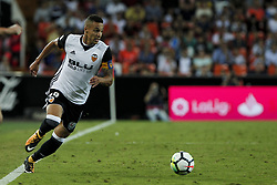 September 19, 2017 - Valencia, Spain - 19 Rodrigo Moreno of Valencia CF    during spanish La Liga match between Valencia CF vs Malaga CF at Mestalla  Stadium on  September 19, 2017. (Credit Image: © Jose Miguel Fernandez/NurPhoto via ZUMA Press)