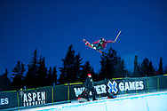 Ayana Onozuka during Women's Ski Superpipe Practice at 2014 X Games Aspen at Buttermilk Mountain in Aspen, CO. ©Brett Wilhelm/ESPN