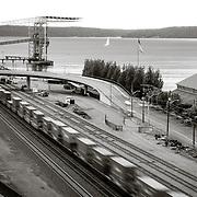 Train by Tacoma Waterfront - Tacoma, WA