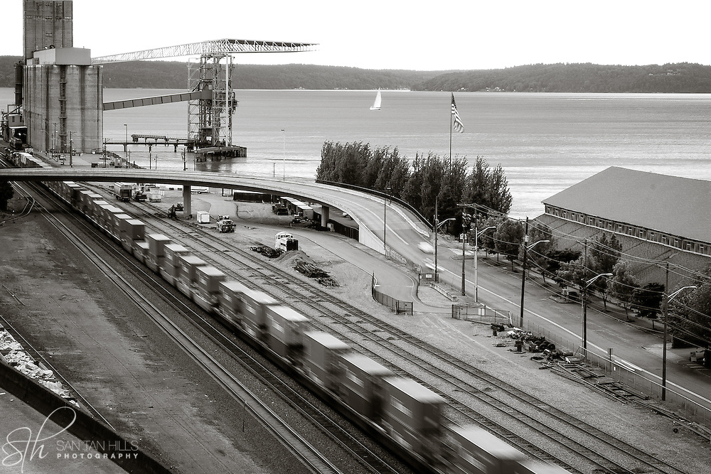 Train by Tacoma Waterfront - Tacoma, WA