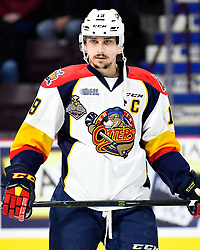 Dylan Strome of the Erie Otters in Game 2 of the 2017 MasterCard Memorial Cup against the Seattle Thunderbirds on Saturday May 20, 2017 at the WFCU Centre in Windsor, ON. Photo by Aaron Bell/CHL Images